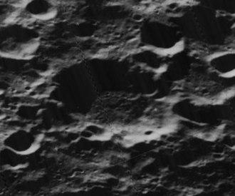 Van Rhijn (crater) - Oblique Lunar Orbiter 5 image