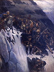 Suvorov Crossing the Alps in 1799