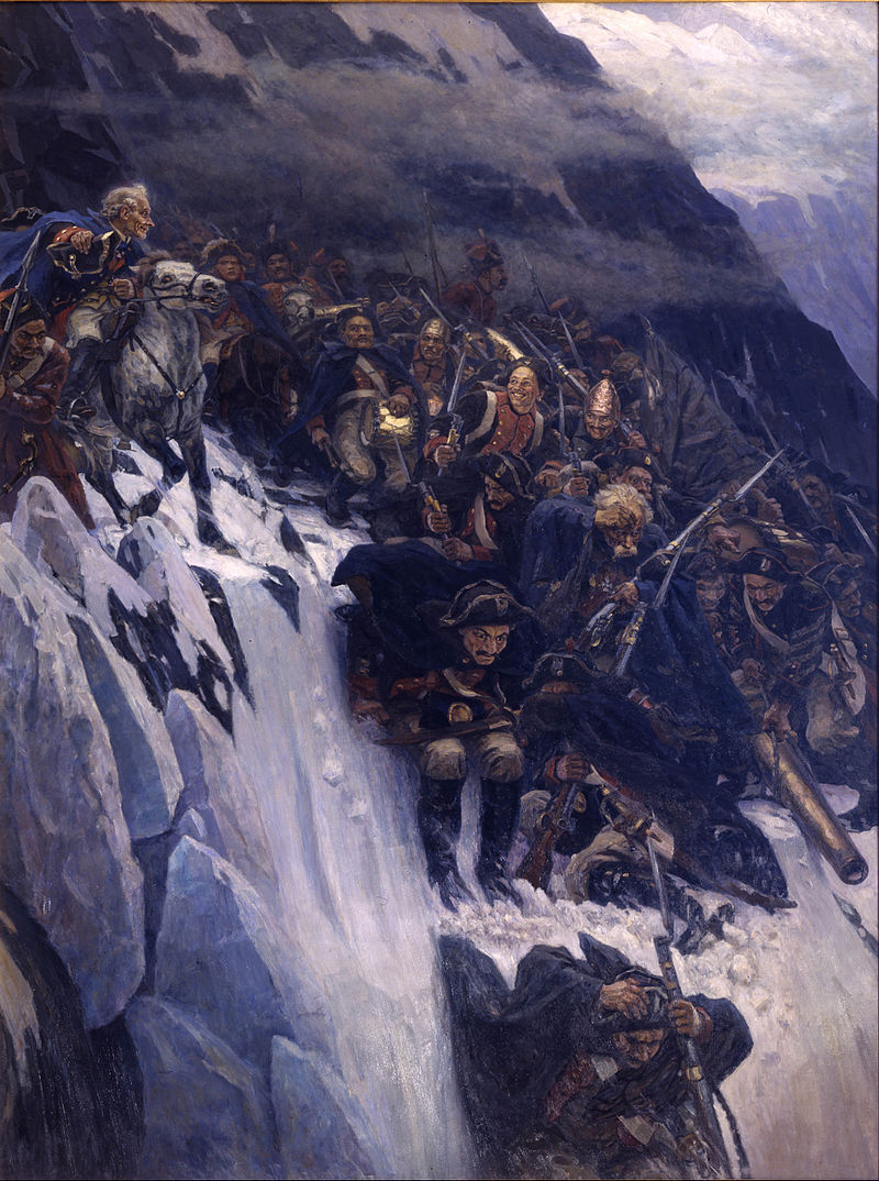 Vasily Surikov - Suvorov Crossing the Alps in 1799 - Google Art Project.jpg