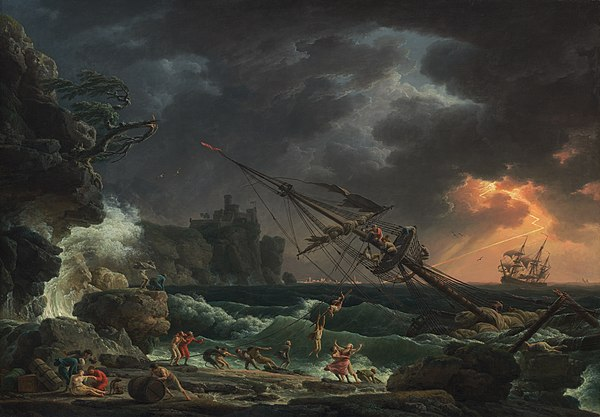 The Shipwreck (1772), National Gallery of Art, Washington D.C. Vernet, Claude Joseph - The Shipwreck - 1772.jpg