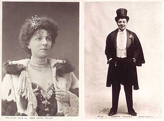 Vesta Tilley - Cards of Vesta Tilley, out of drag and in a male role
