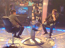 Vic Sotto and Joey de Leon at the Who Wants to Be A Millionaire set.jpg