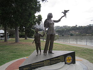 Vietnamese Australians - Vietnamese Boat People Memorial, in Brisbane, QLD, dedicated 2 December 2012, executed by Phillip Piperides