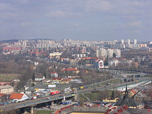 Plzeň Region - View at residential areas of Plzeň