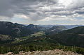 View of Rocky Mountains National Park from Many Parks Curve, looking NE 20110824 1.jpg