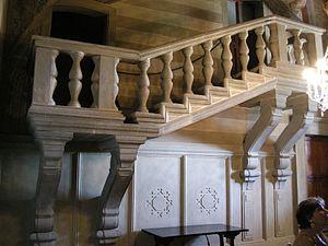 Villa di Poggio a Caiano - Bianca Cappello's staircase