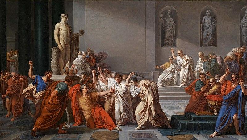 Datei:Vincenzo Camuccini - La morte di Cesare.jpg