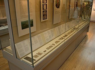 Vindolanda tablets - Tablets on display at the British Museum