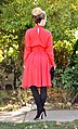 Vintage red Karl Lagerfeld dress - Back.jpg