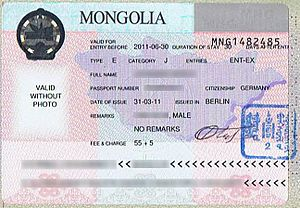 Visa Policy Of Mongolia Wikipedia