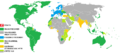 Visa requirements map for Croatian Citizens.png