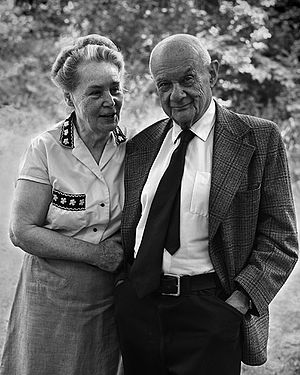 Roman Vishniac - Roman and Edith Vishniac, 1977; photo by Andrew A. Skolnick