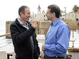 Shimon Lankri - Lankri (on left) visiting Galilee