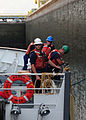 Visual inspection of the USCGC Alder's hull while proceeding to Operation Nanook 2010.jpg