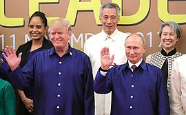 Vladimir Putin & Donald Trump at APEC Summit in Da Nang, Vietnam, 10 November 2017 (02).jpg