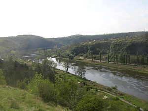 Levý Hradec -  Vltava River valley as seen from Levý Hradec.