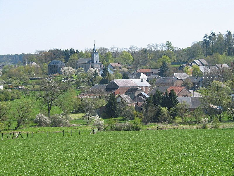 Vonêche   (Belgium), view on the village..