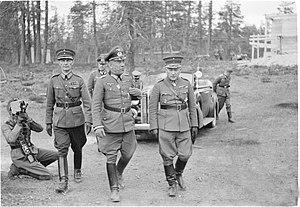 Operation Arctic Fox - Falkenhorst meets with Siilasvuo during planning.