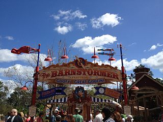 The Barnstormer Roller coaster at Disneys Magic Kingdom