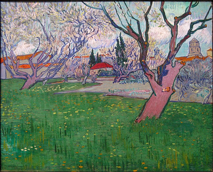 File:WLANL - artanonymous - View of Arles with Trees in Blossom.jpg