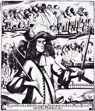 Siege of Landau (1702) - Comte de Mélac became notorious for burning cities and farms in the Palatinate in 1688.