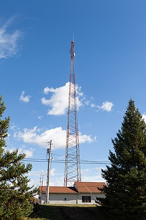 WTYM - WTYM tower and studio building on Bunker Hill Road in North Buffalo Township, its studio from 1982 to 2010.