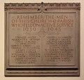 WWII memorial plaque, St Oswald's, Bidston.jpg
