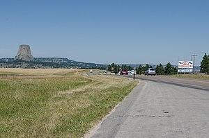 Wyoming Highway 24 - Wyoming Highway 24 near Devils Tower