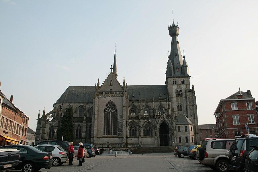 Walcourt (Belgium), the Basilica St Maternus (XVth century).