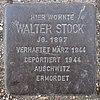 Stolperstein für Walter Stock