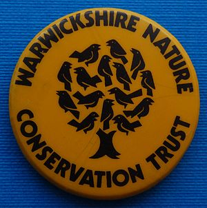Warwickshire Wildlife Trust - Warwickshire Nature Conservation Trust badge from the late 1980s