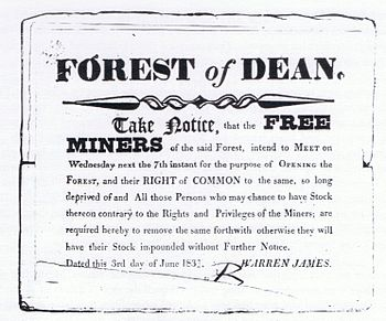 Warren James' notice to the Free Miners