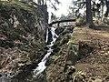 Waterfall in Průhonice Park in Průhonice, Prague-West District.jpg