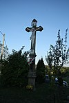 Wayside cross in Rousměrov, Žďár nad Sázavou District.jpg