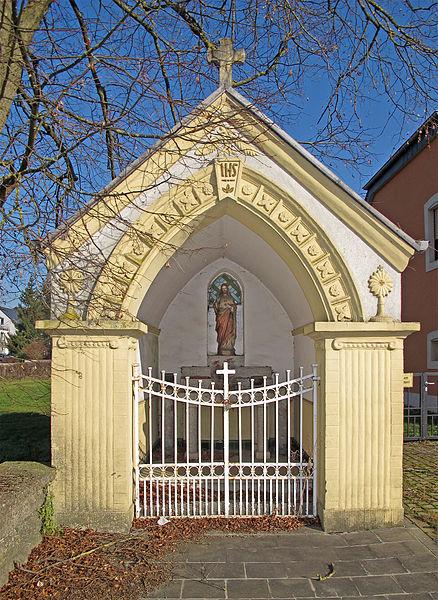 Wayside chapel in Mamer, Luxembourg, route d'Arlon