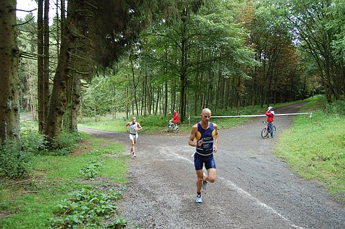 Weiswampach triathlon 2007 Dirk Bockel Peter Croes.jpg