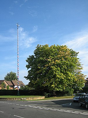 Welford-on-Avon - The maypole at Welford-on-Avon