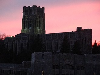 West Point Cadet Chapel - Image: West Point Cadet Chapel at Sunset