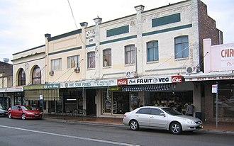 West Ryde, New South Wales - Image: West ryde shops eastern side