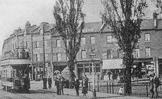 Lordship Lane, Haringey - Western End of Lordship Lane looking North c1910.