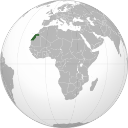 Western Sahara (orthographic projection).svg