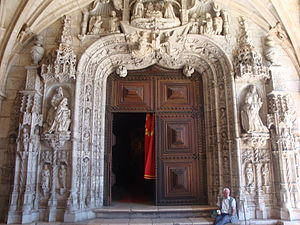 Nicolau Chanterene - Jerónimos Monastery's Western portal, transition from the Gothic style to Renaissance, by Nicolau Chanterene, 1517