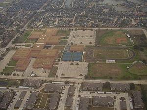 Westside High School (Houston) - Westside viewed from the air