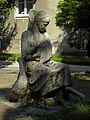 Wien-Hütteldorf - Rettichgasse - Skulptur Mädchen mit Schwan - Künstler unbekannt.jpg