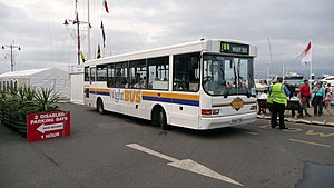 Wightbus - UVG Urbanstar bodied Dennis Dart operating the Sailbus service amongst the Cowes Week regatta in August 2008