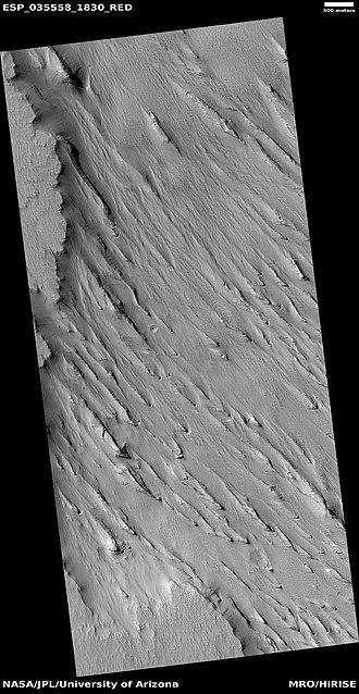 Amazonis Planitia - Image: Wiki ESP 035558 1830yardang