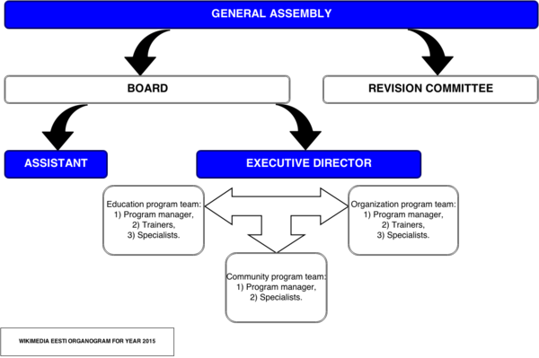 Organogram of planned organization structure for 2015.
