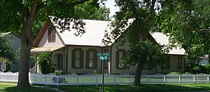 National Register of Historic Places listings in Webster County, Nebraska - Image: Willa Cather house from NE 2