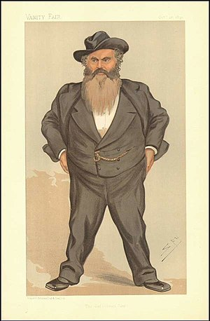 "William Allan (English politician) - ""The Gateshead Giant"". Caricature by Spy published in Vanity Fair in 1893."