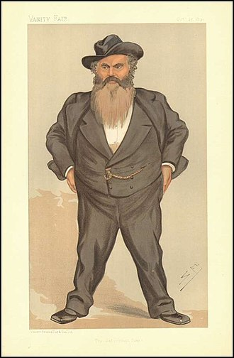 """William Allan (English politician) - """"The Gateshead Giant"""". Caricature by Spy published in Vanity Fair in 1893."""